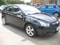 2012 CHEVROLET CRUZE 1.8 LTZ 5 DOOR IN BLACK NICE ALLOYS,2 KEYS, SERVICE HISTORY, ALOT OF CAR £3495