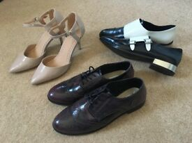 (up to) 3 pairs designer women's shoes size 7 UK (40) (of different prices when sold individually)