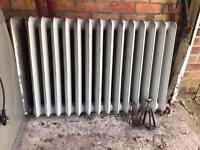 Large cast radiator