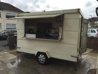 Mobile Catering / burger van for sale - Ready to use: 3m x 2m x 2.5m high