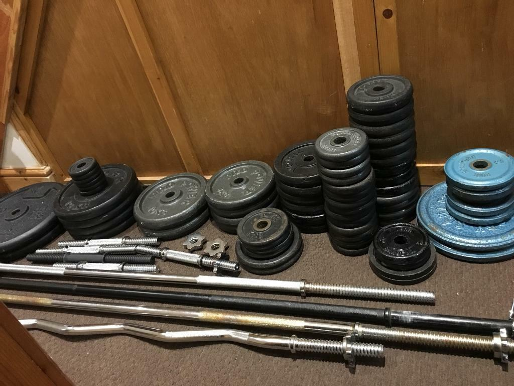 240kg Cast Iron Weights plus Solid bars