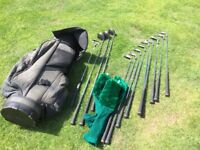 Wilson Muscle Back Set Of Golf Clubs and Bag R/H