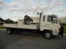 Mitsubishi Fighter 6 Traytop with 2.6 Tonne Crane Welshpool Canning Area Preview