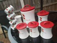 Dunelm Mill 'Poppy' kitchen set.