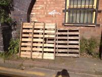 Free Pallets broken Fire wood log burner fire pit wood
