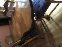 Dining table and 6 chairs Pecan