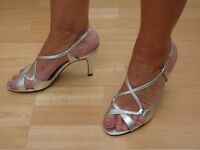 """SILVER EVENING SANDAL BY """"LOTUS"""""""