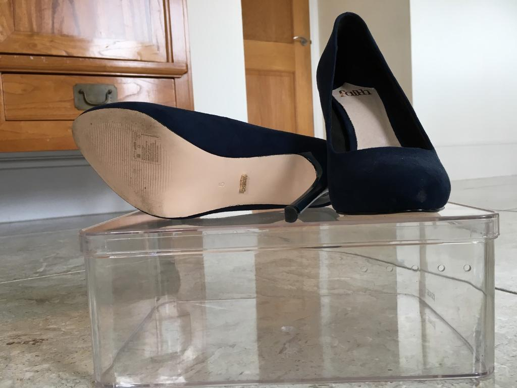 Faith Stiletto Blue Suede