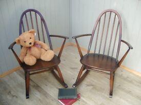 Stunning Pair of Ercol Quaker Rocking Chairs