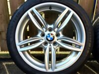 "19"" GENUINE BMW 5 SERIES F10 M SPORT ALLOYS 351M STAGGERED 8.5/9J 5x120 WHEELS"