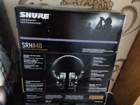Shure SRH840 **BRAND NEW** headphones REFERENCE CLASS CANS - CHECK REVIEWS