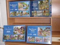 GIBSONS JIGSAW PUZZLES BOXES OF 4 X 500 PIECES 16 PUZZLES IN TOTAL