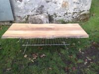 Solid oak,hand crafted coffee table