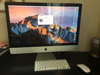 "27"" iMac 1TB hdd/12gb ram/i5/Magic Mouse and wireless keyboard/Mac OS sierra"