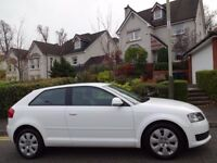 (2009) AUDI A3 1.9 TDi SP ED 3dr NEW MODEL WHITE ONLY 75K MILES, FSH, 9 STAMPS, £30 ROAD TAX, 74 MPG