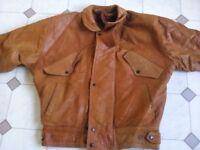 Men's 1980's Vintage Genuine Leather Jacket
