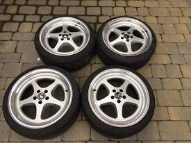 Schmidt Race2000 Alloy Wheels Rare Golf MK4 5x100 18x9 BBS OZ Split Rim