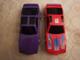 vintage scalextric mask and venom cars PWO