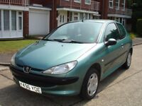 PEUGEOT 206 AUTOMATIC 1.4 ONLY 36,000 MILES SERVICED NEW CAMBELT/WATER PUMP CHANGED. 12 MONTHS MOT