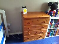 Large chest of drawers with baby bath