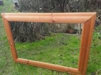 Pine rectangular mirror