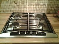 NEFF stainless steel 4 ring gas hob - very good condition