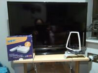 Samsung TV on sale! + Now TV Box + Amplified indoor aerial