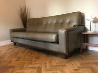 Immaculate G Plan Leather Fifty Nine Large Sofa