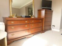 Stag Bedroom Furniture - 2 x Bedside Tables 1 x Tallboy 1 x Chest of Drawers -Together or Separately