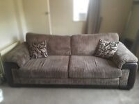 DFS brown 4 seater sofa