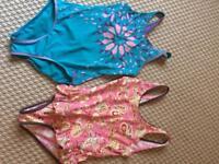 2 girls swim costumes. 8-10 yrs