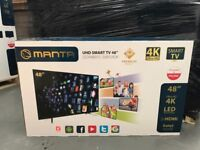 15, 4K 48 inch Android MANTA Televisions (UK Plug Adapters incl) For Sale