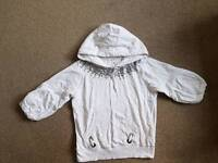 3/4 sleeve hooded tops, size 12