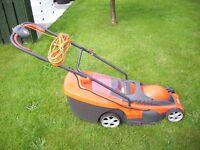 flymo chevron 34c electric lawnmower