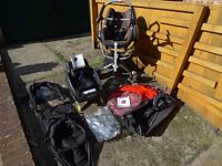 Quinny Zapp + Maxicosi car seat + Maxicosi Easyfix car seat base + multiple accessories