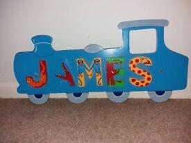 JAMES Wooden Door Plaque