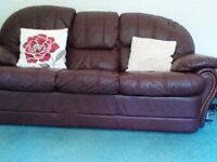 3piece suite, 3 seater setee, 1 recliner, 1 armchair, good condition fromsmoke and pet free home