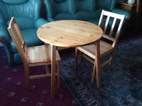 Small Kitchen Table & Two Chairs