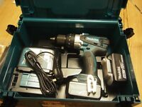 MAKITA 18V cordless Combi drill with 2 x 4.0 amp batteries New in carry case