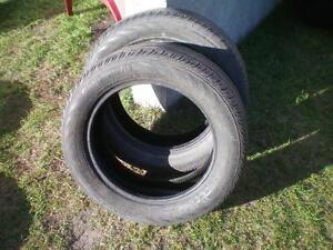 2 Continental Conti Pro Contact Tires * 205 55R16 91H  * $50.00 for 2 .  M+S / All Season Tires ( used tires )