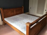 Super king size bed, solid wood
