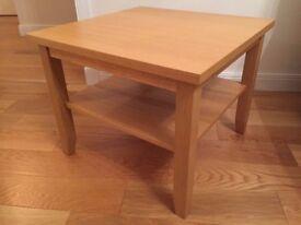 IKEA SKOGHALL Oak Veneer Side Table