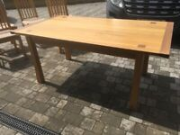 John Lewis oak table and six matching chairs