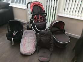 I candy peach all terrain and Maxi cosi car seat