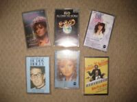 12 music cassettes, 6 various and 6 country