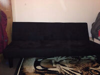 Good Clean Condition Suede Black Sofa Bed