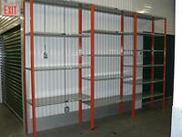 Great Deal on used industrial metal shelving