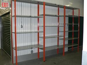 Great Deals on used industrial metal shelving!