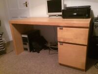 Desk with drawer & cupboard