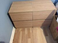 2 bedside chest of drawer